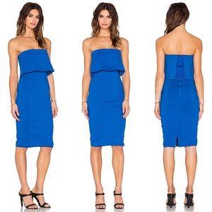 Lavish Alice Layered Strapless Dress Cobalt 12